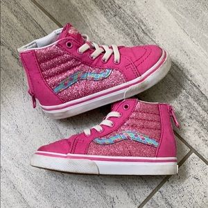 Pink sparkle vans toddler 7